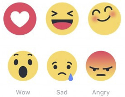 Emoticonos Facebook Reactions