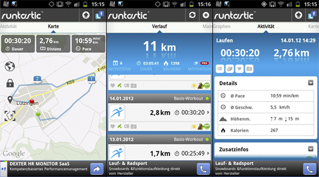 App Android Runtastic
