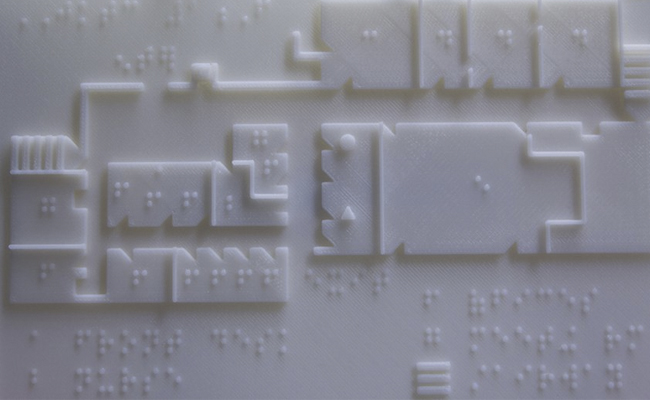 Mapa braille ciegos