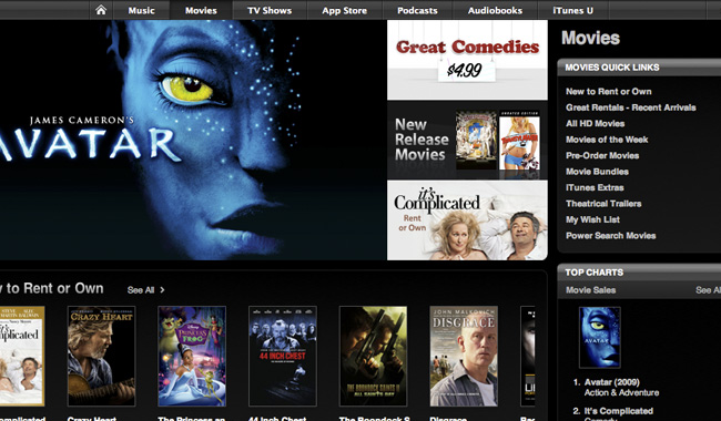 iTunes Movies prohibido en China