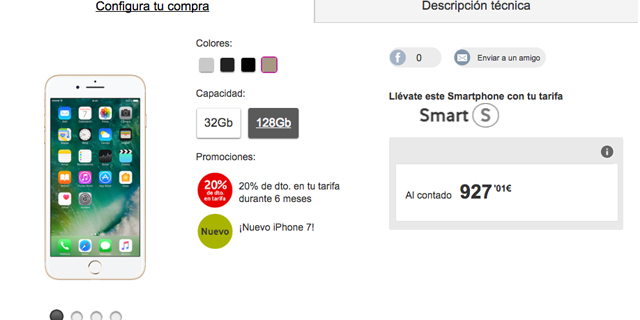Vodafone compra iPhone 7