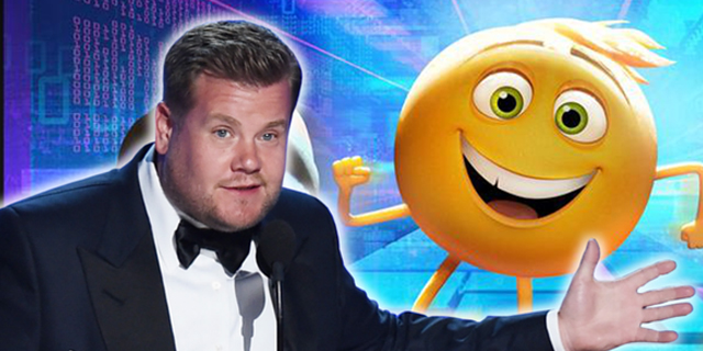 James Corden en EmojiMovie