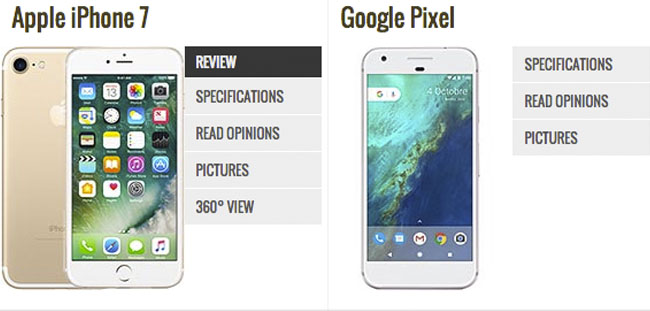 Pixel vs iPhone 7